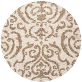 Safavieh Shag Cream/ Beige Rug (4' Round)