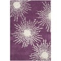 Safavieh Hand-made Soho Burst Purple/ Ivory Wool Rug (2' x 3')