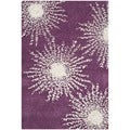 Safavieh Hand-made Soho Burst Purple/ Ivory Wool Rug (2'6 x 4')