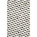 Safavieh Hand-woven Studio Leather Black/ Grey Leather Rug (5' x 8')
