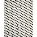 Safavieh Hand-woven Studio Leather Black/ Grey Leather Rug (8' x 10')