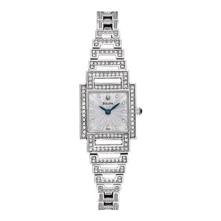 Bulova Women's Crystal-accented Stainless Steel Watch