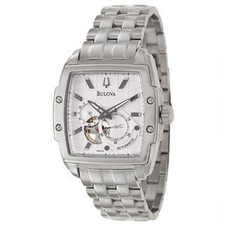 Bulova Men's 96A122 'Mechanical' Stainless Steel Silver Dial Automatic Watch