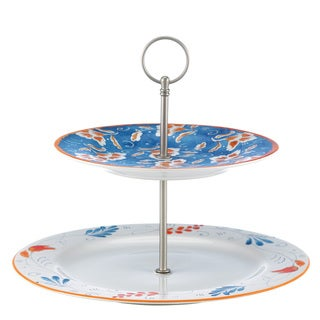Kathy Ireland Home Spanish Botanica Two Tiered Server