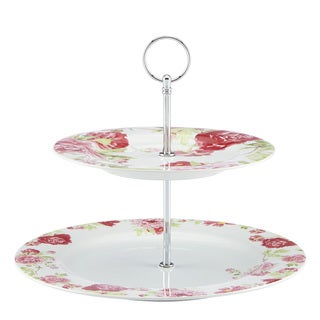 Kathy Ireland Home Blossoming Rose Two Tiered Server