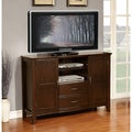 Langley Collection Walnut Brown Tall TV Media Stand