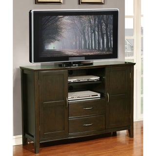 WYNDENHALL Langley Collection Hand Rubbed Exeter Brown Tall TV Stand