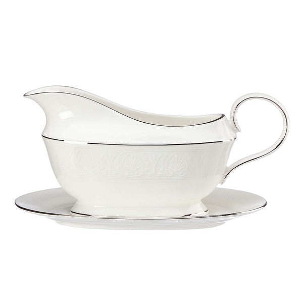 Lenox Hannah Platinum Sauce Boat and Stand