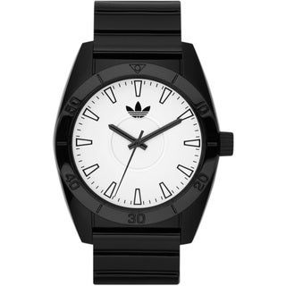 Adidas Men's 'Santiago ADH2715' Black Rubber White Dial Quartz Watch