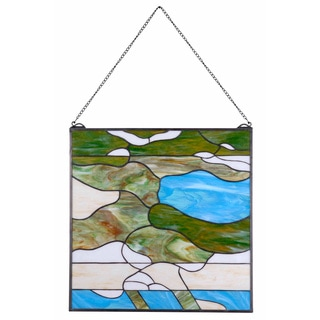 Summerville 24-Inch Tiffany Window Panel