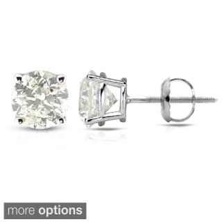 Auriya Platinum 1/2ct to 1 1/2ct TDW Clarity-Enhanced Diamond Earrings (J-K, I2-I3)