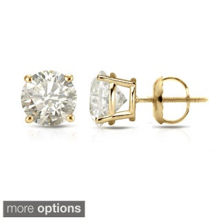Diamond Stud Earrings Yellow Diamond Stud Earrings