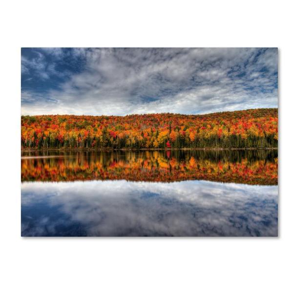 Pierre Leclerc 'Autumn Reflection' Canvas Art