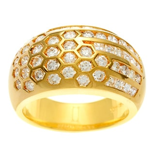 18k Yellow Gold Vintage Antique 1 4/5ct TDW Diamond Ring (H-I, SI1-SI2)