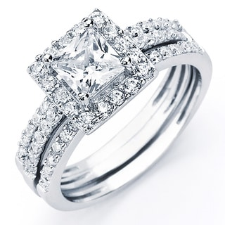 cubic zircon wedding rings