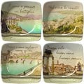 Italian Inspirations Collection Porcelain Appetizer Plates (Set of 4)