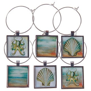 Wine Glass Charms Coastal Collection (Set of 6)