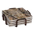 Occasions Realtree Coaster Set with Holder (Set of 4)