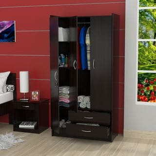 Inval 3-Door Espresso Armoire