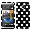 BasAcc White Polka Dots/ Black Case for HTC One M7