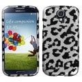 BasAcc Black Leopard 2D Silver Skin Case for Samsung Galaxy S4 i9500
