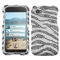 BasAcc Black Zebra Skin Diamante Case for HTC First