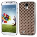 BasAcc Brown Diagonal Plaid Executive Case for Samsung Galaxy S4 i9500