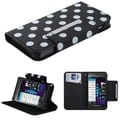 BasAcc White Polka Dots/ Black MyJacket Case for Blackberry Z10