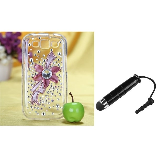 INSTEN Diamante Phone Case Cover/ Stylus for Samsung Galaxy S III/ S3 I9300