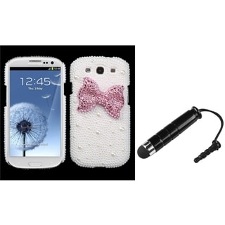 INSTEN Diamante Phone Case Cover/ Stylus for Samsung Galaxy S III/ S3 I9300