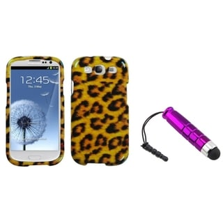 BasAcc Mini Stylus/ Leopard Skin Case for Samsung Galaxy S III/ S3