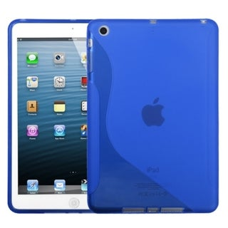 BasAcc Dark Blue/ S-shape Candy Skin Case for Apple iPad Mini