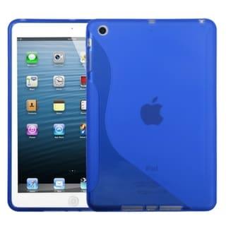 BasAcc Dark Blue/ S-shape Candy Skin Case for Apple iPad Mini