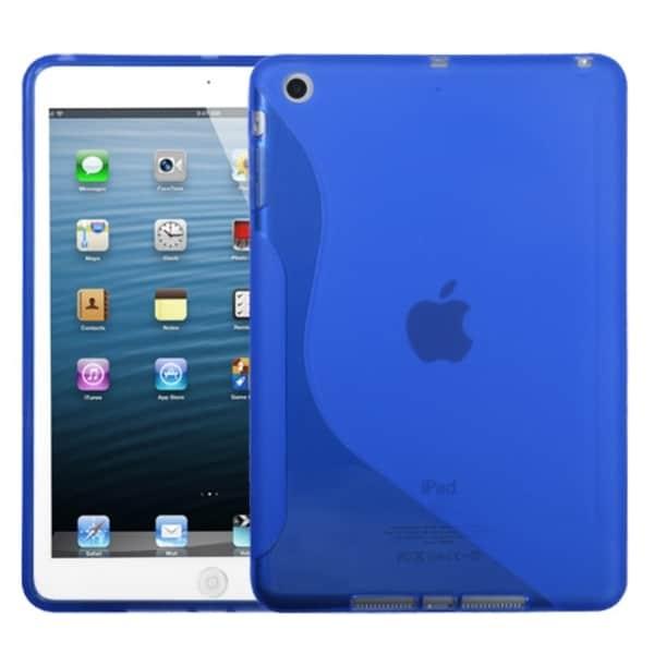INSTEN Dark Blue/ S-shape Candy Skin Tablet Case Cover for Apple iPad Mini