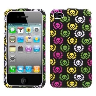 INSTEN Cute Skulls Phone Case Cover for Apple iPhone 4S/ 4