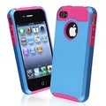 BasAcc Hot Pink TPU/ Blue Hard Hybrid Case for Apple iPhone 4/ 4S