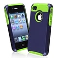 BasAcc Green TPU/ Dark Blue Hard Hybrid Case for Apple iPhone 4/ 4S
