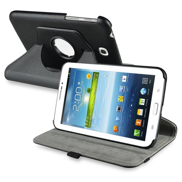 INSTEN 360 Swivel Leather Tablet Case Cover for Samsung Galaxy Tab 3 7.0 P3200