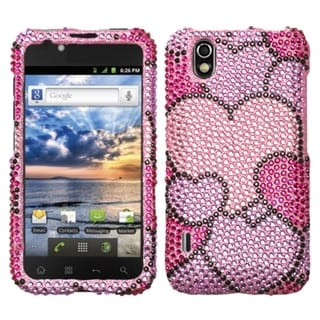 BasAcc Cloudy Hearts/ Diamante Case for LG LS855 Marquee