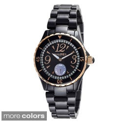 Haurex Women's 'Make Up' Crystal-Accented Quartz Watch
