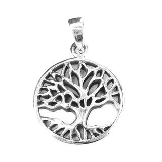 Silver Sacred Tree of Life Branches Root Pendant (Thailand)