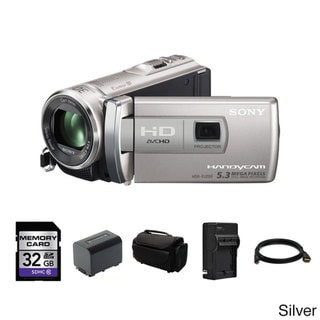 Sony HDR-PJ200 HD Handycam Camcorder with Projector 32GB Bundle