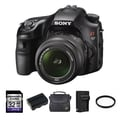 Sony Alpha SLT-A57 SLR Black Digital Camera 18-55mm Lens 32GB Bundle