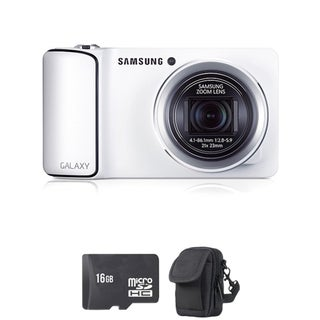 Samsung GC110 Galaxy White Digital Camera 16GB Bundle