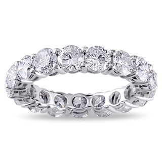 Miadora 18k White Gold 4ct TDW Certified Diamond Eternity Ring (G-H, I1-I2)