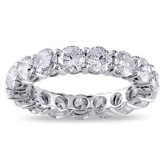 Miadora 18k White Gold 4ct TDW Certified Diamond Eternity Ring (G-H, I1-I2)
