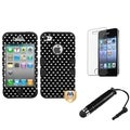 BasAcc Hearts TUFF Case/ Stylus/ LCD Protector for Apple iPhone 4/ 4S