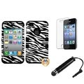 BasAcc Zebra TUFF Case/ Stylus/ LCD Protector for Apple iPhone 4/ 4S