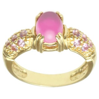 Michael Valitutti 18k Yellow Gold Pink Tourmaline and Pink Sapphire Ring