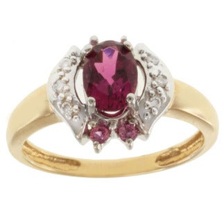Michael Valitutti 14k Gold Pink Tourmaline, Sapphire and Diamond Ring